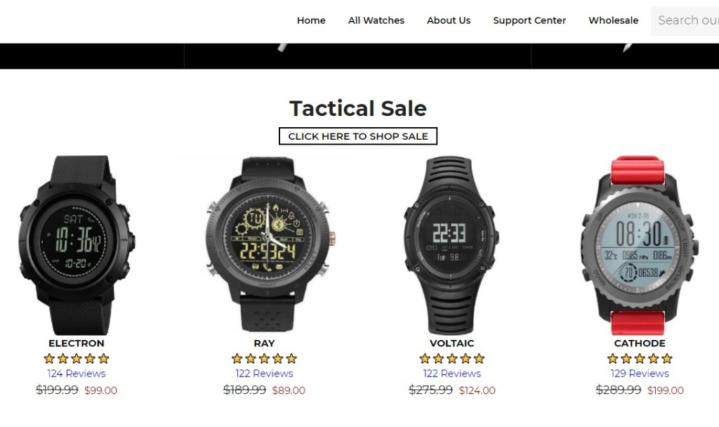 Bolt watches dropshipping store