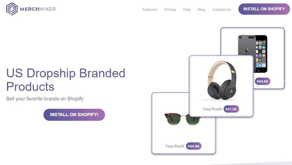 MerchMixer brand name dropshipping supplier