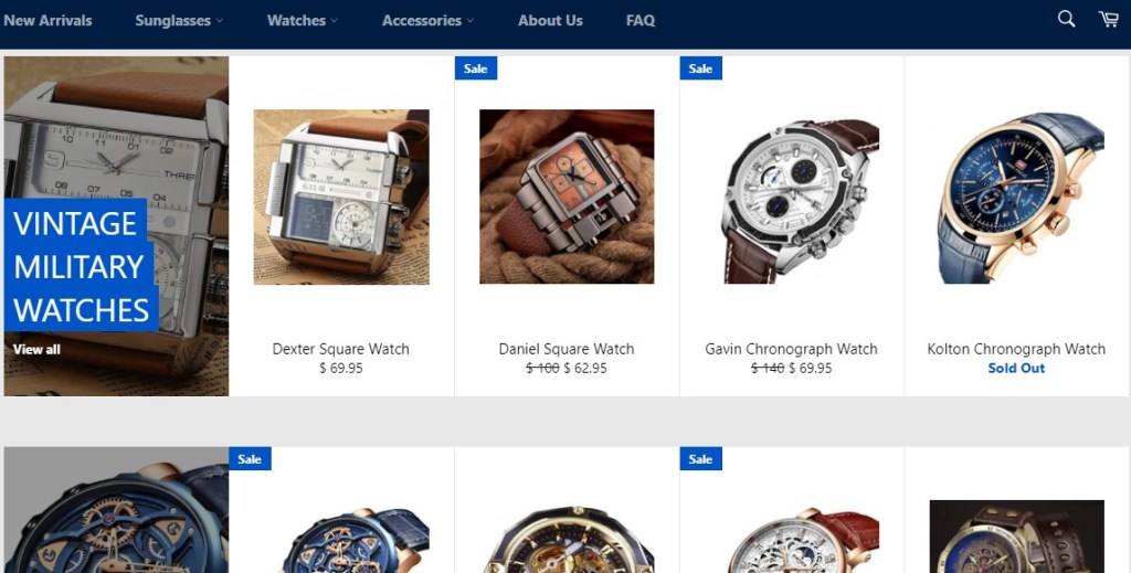 Techni Gadgets watch dropshipping store