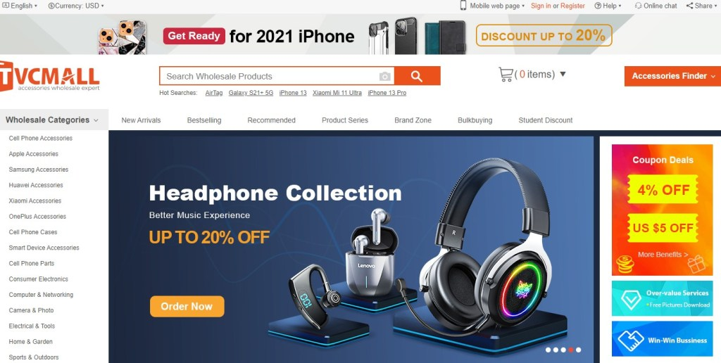 TVC-Mall - one of the cheapest Chinese wholesalers