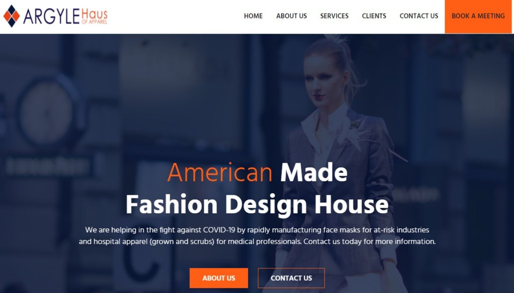ARGYLE Haus fashion clothing manufacturer in the US