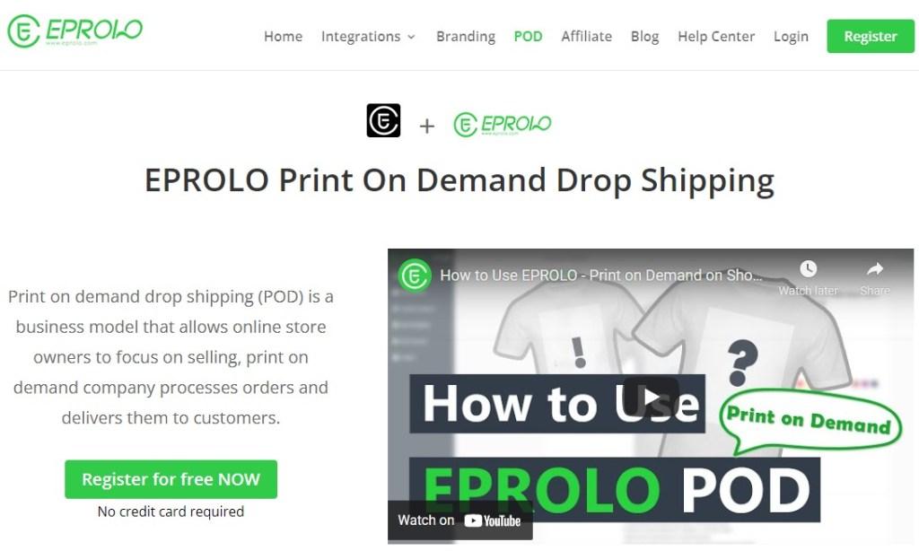 EPROLO POD Chinese fashion clothing manufacturer