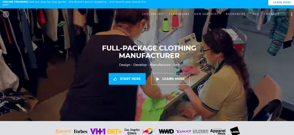 IndieSource fashion clothing manufacturer in the US