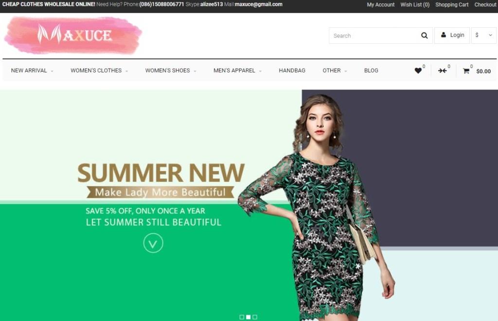 Maxuce cheap fashion clothing wholesaler