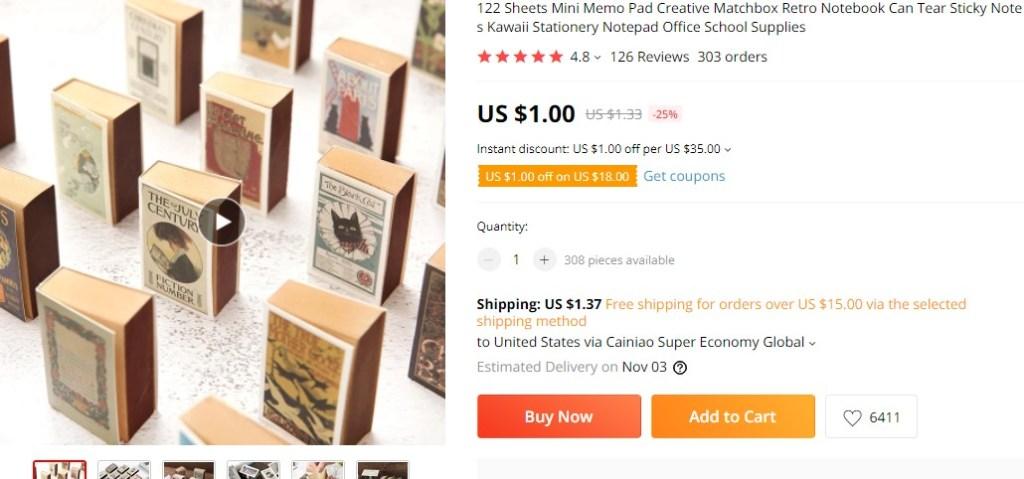 Mini retro notebooks dropshipping product idea