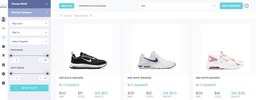 Nike & Adidas dropshipping shoes on 365Dropship
