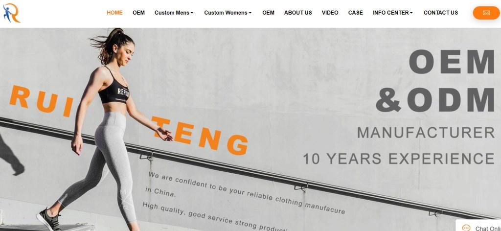 Ruitenggarment fashion clothing manufacturer in China
