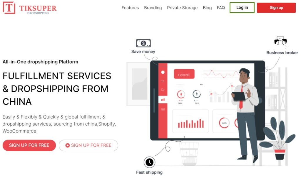 Tiksuper - one of the best Chinese dropshipping suppliers