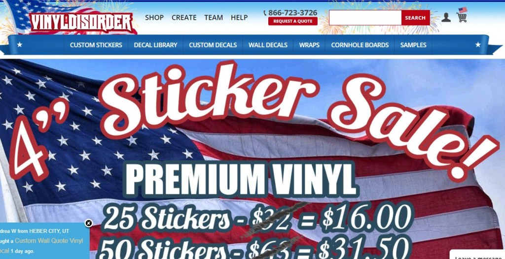 VinylDisorder stickers dropshipping store