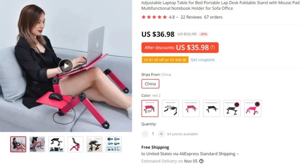 Portable laptop desks furniture dropshipping product idea