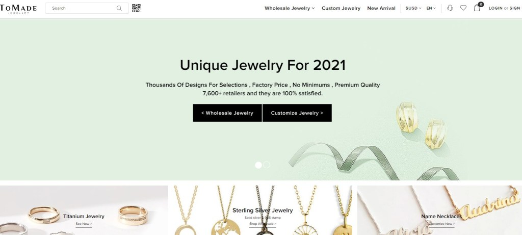 Tomade wholesale Korean jewelry supplier