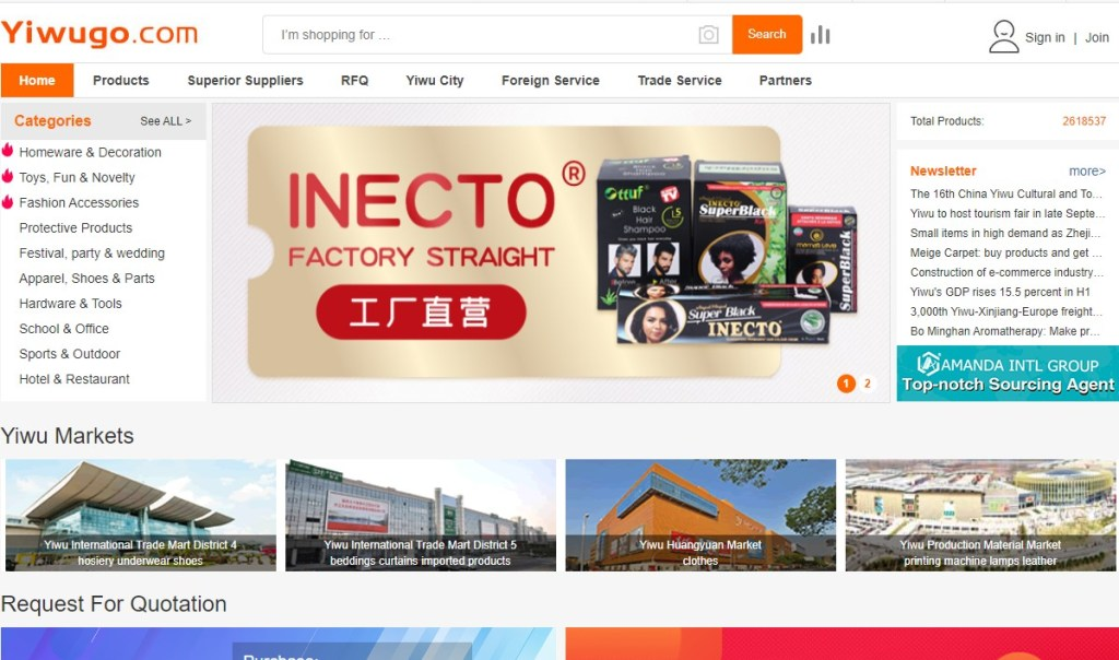 Yiwugo - one of the cheapest Chinese wholesalers