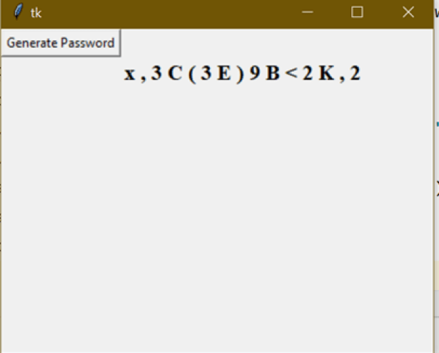 Password Generator with python and tkinter