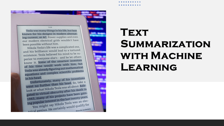 Summarize Text with Machine Learning