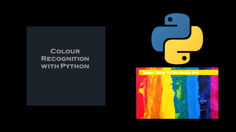 Colour Recognition with Python