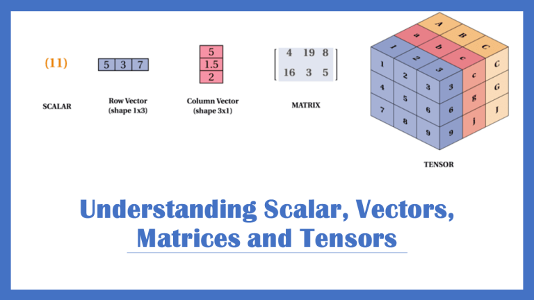 Scalars Vectors Matrices and Tensors in Machine Learning