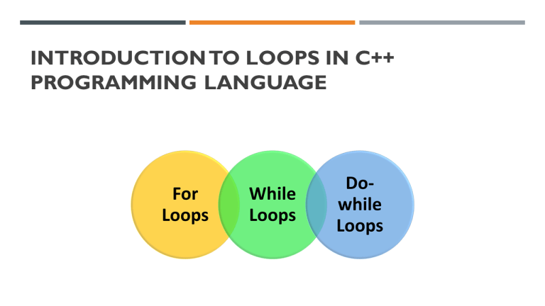 Loops in C++: For Loops, While Loops, and Do-While Loops