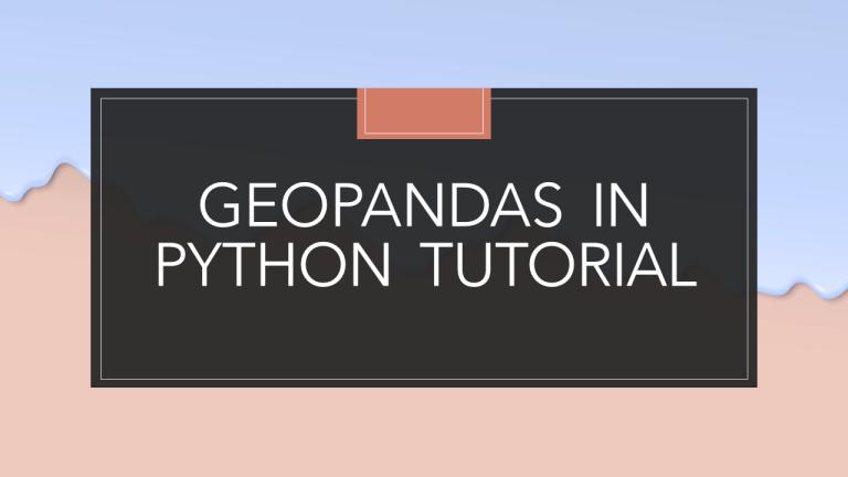 GeoPandas in Python