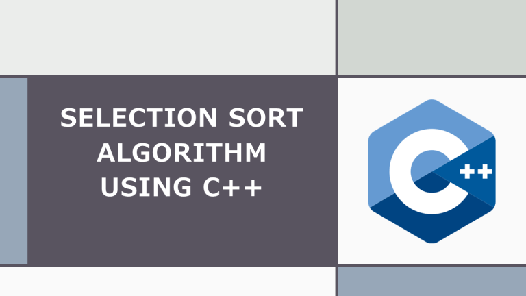 Selection Sort in C++