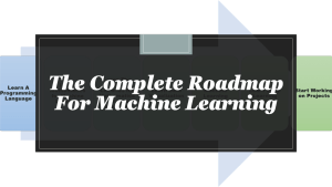 Roadmap for Machine Learning