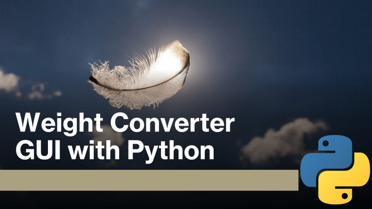 Weight Converter GUI with Python