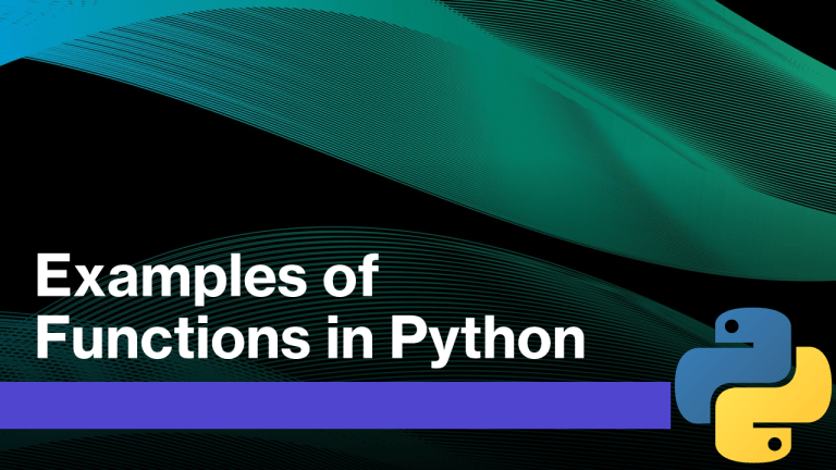 Functions in Python Examples