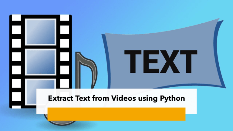 Extract Text From Videos using Python