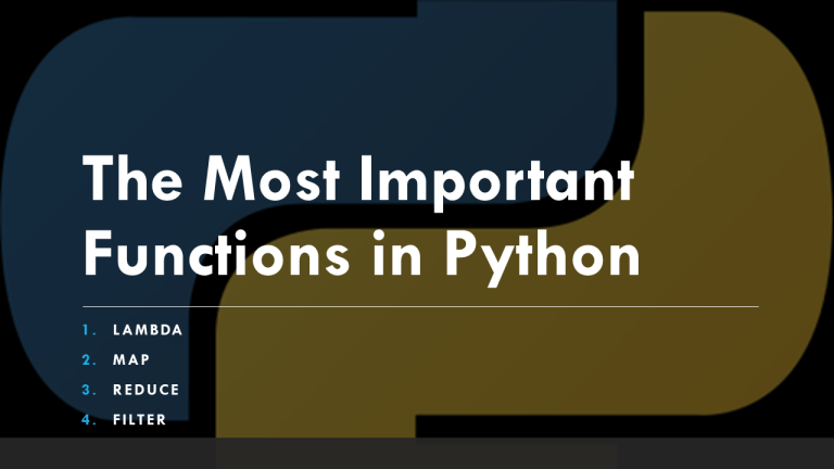 Most Important Python Functions