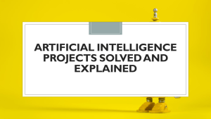 Artificial Intelligence Projects with Python