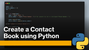 Contact Book with Python