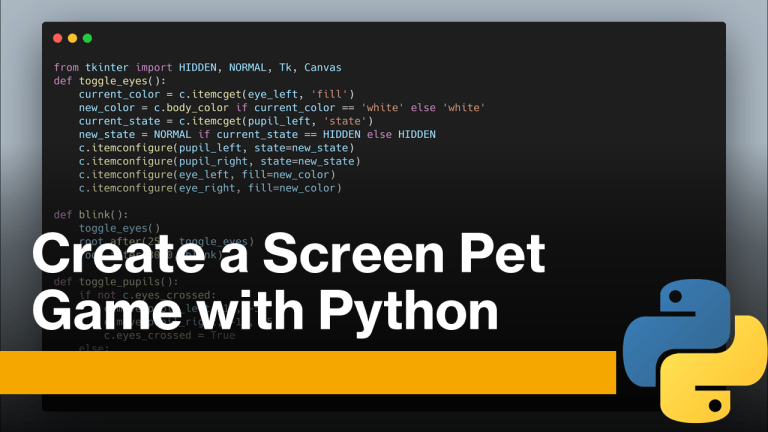 Screen Pet with Python