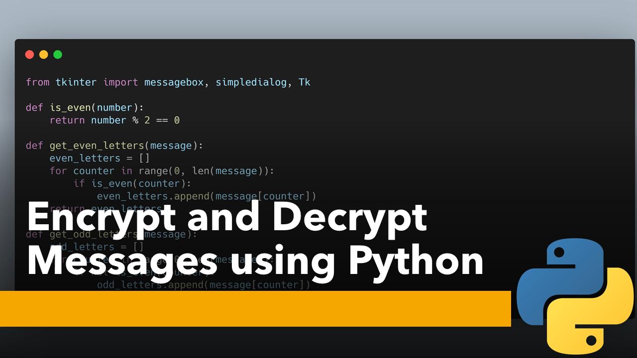 Encrypt and Decrypt using Python