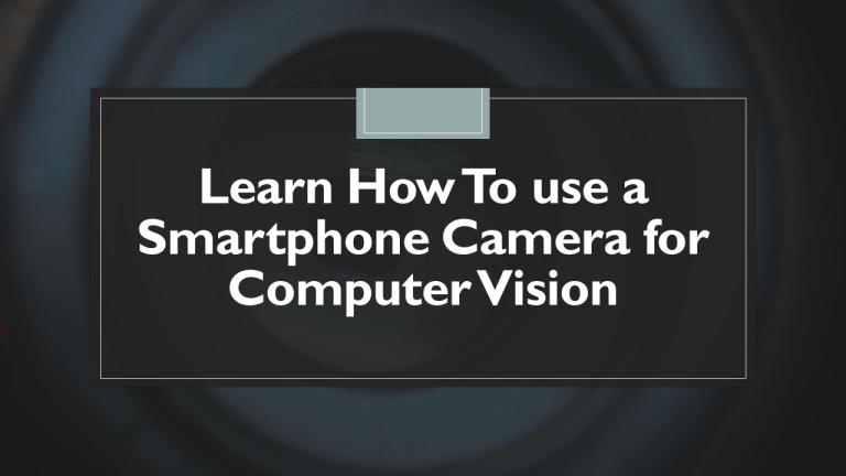 Use Phone Camera with Python