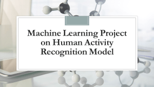 Human Activity Recognition with Machine Learning