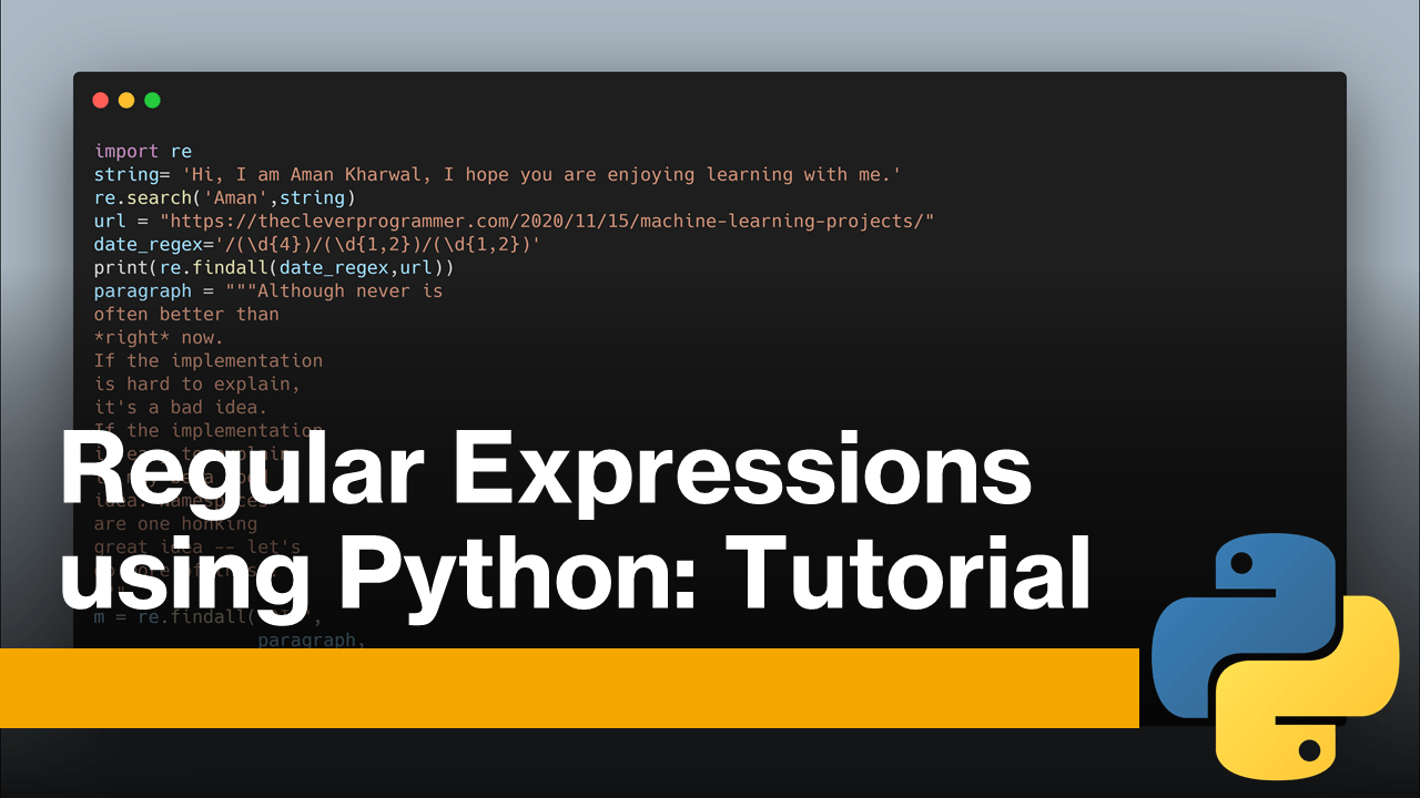 Regular Expressions using Python