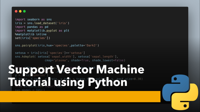 Support Vector Machine Tutorial using Python