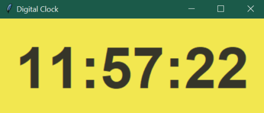 digital clock application with Python