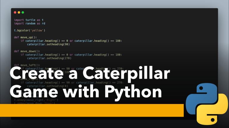 Caterpillar Game with Python