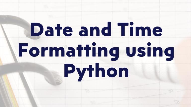 Format Dates using Python