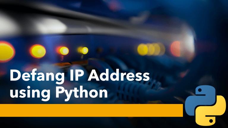 Defang IP Address using Python