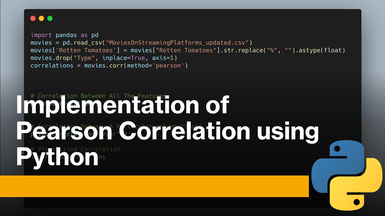 Pearson Correlation using Python