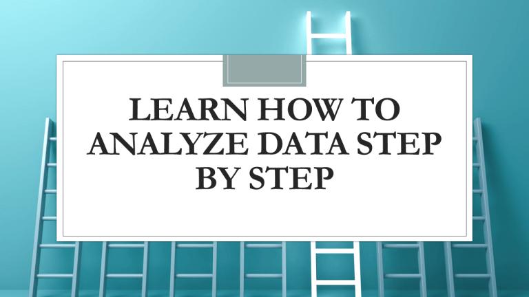 How to Analyze Data