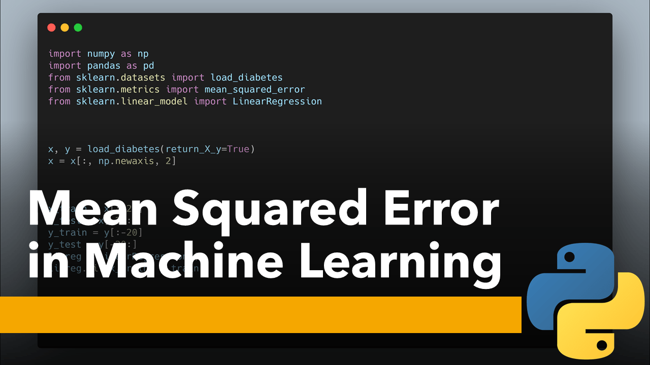 Mean Squared Error in Machine Learning