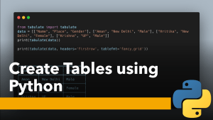 Create Tables using Python
