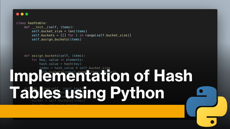 Hash Tables using Python