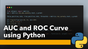 AUC and ROC Curve using Python