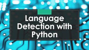 Language Detection with Python