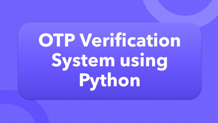 OTP verification using Python