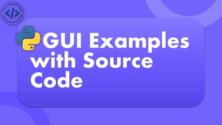 Python GUI Examples