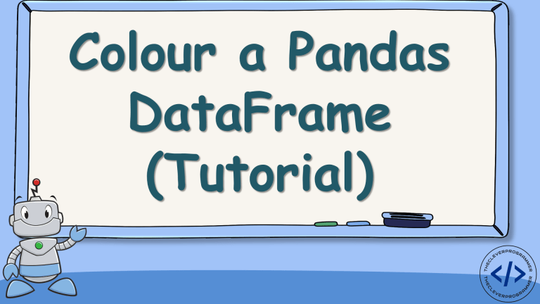 Colour Pandas DataFrame in Python